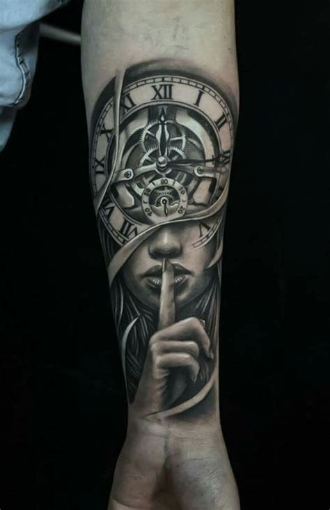 tatuajes para hombres en 3d tatuajes para hombres tatuajes de relojes de bolsillo los mejores dise 241 os