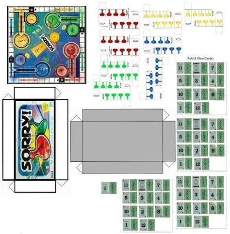 make your own doll house games miniature printables sorry board game v crafts