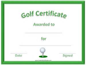 golf certificate template free golf awards