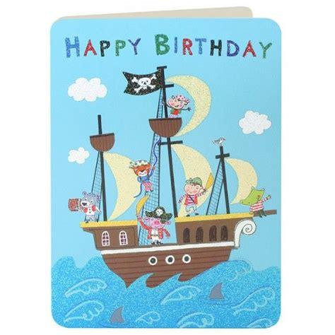 Pirate Birthday Card Pirates Pirate Ship Boys Birthday Card Karenza Paperie