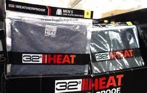 costco sale weatherproof 32 degrees heat men s thermal