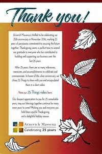 happy thanksgiving and thank you for 25 remarkable years arnerich massena home page