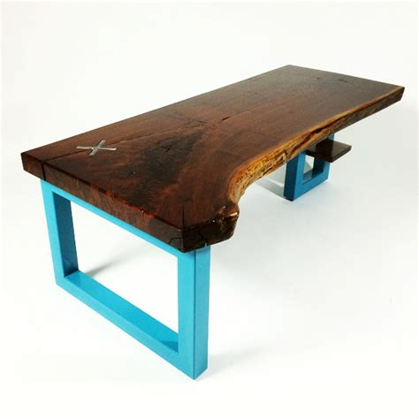 handmade black walnut live edge coffee table by cauv