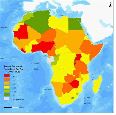 africa map 2000 maps of forest cover change in africa 2000 2005 mapa