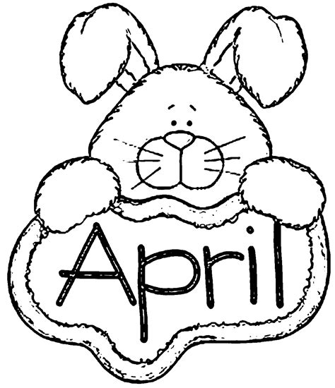 coloring page april april showers coloring pages printables