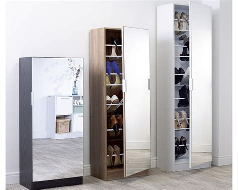 Mirrored Storage Cabinet Mirrored Shoe Cabinet