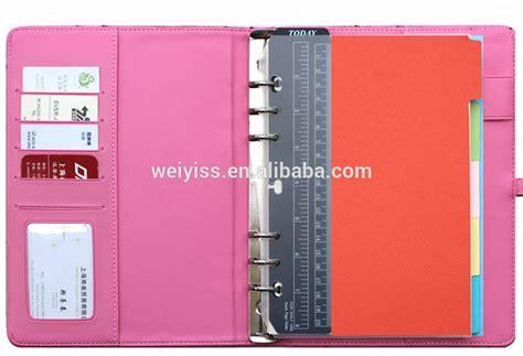 Agenda Note Book personalized pu leather agenda notebook custom design