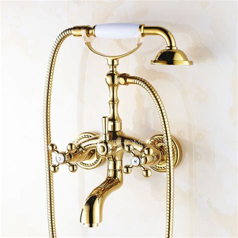 vintage bathtub faucet vintage rose gold wall mount bathtub shower faucet
