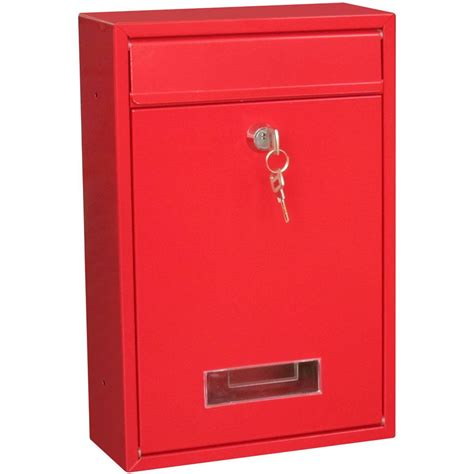 Letter Box post box steel square large letter mailbox wall mounted