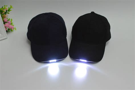 baseball caps with led lights built in fast delivery custom led baseball caps with built in led