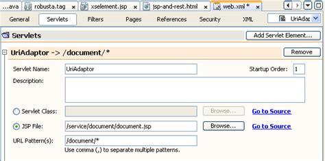 url pattern in web xml for jsp restful web services english