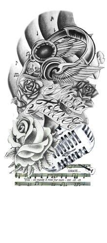 music half sleeve tattoo designs forever design tattoos bands and artist