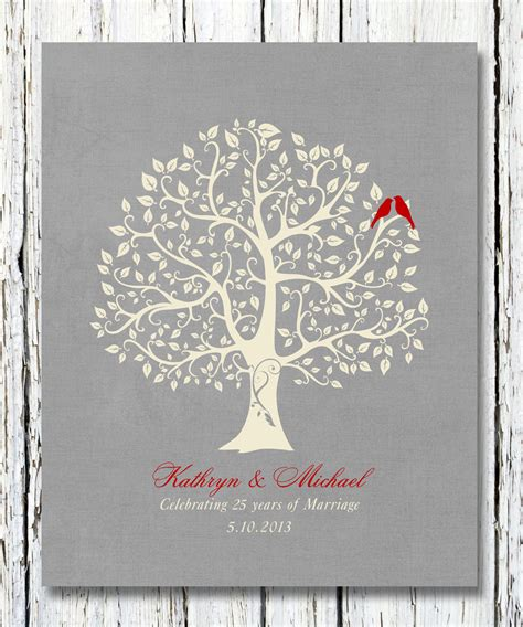 25th wedding anniversary gift ideas personalized 25th silver wedding anniversary gift special