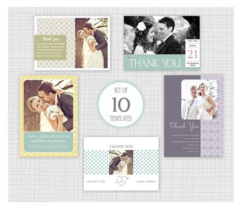 Mini Thank You Cards Template by 10 Psd Wedding Thank You Card Templates Mini Pack 15
