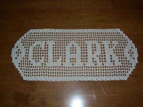 name doily pattern crochet patterns names creatys for