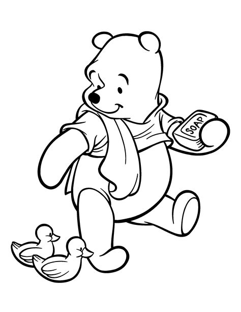 coloring pages winnie the pooh baby disney character coloring pages
