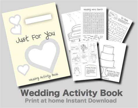 Wedding Activity Book Cover by Wedding Activity Book Yellow Cover Print At Home Pdf