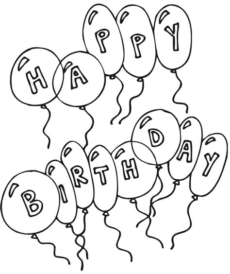 coloring pages of happy birthday balloons happy birthday coloring page coloring book