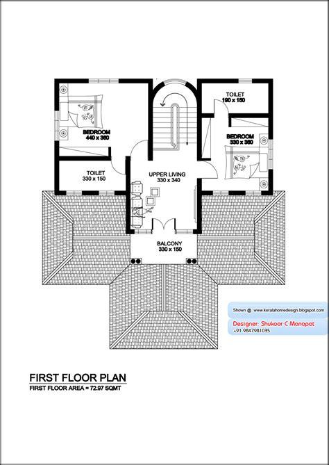 kerala home design first floor plan kerala model villa plan with elevation 2061 sq feet