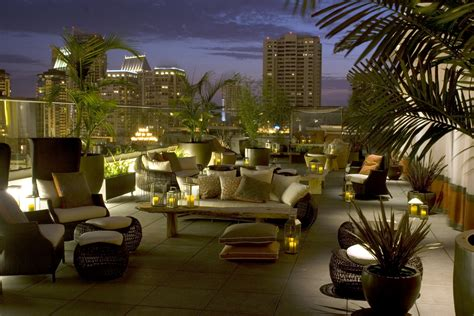 roof top bar san diego andaz san diego serves nightlife scene with variety of vip