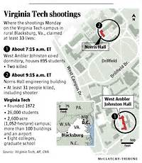 tech cus map pdf nation world 33 dead in virginia tech shooting