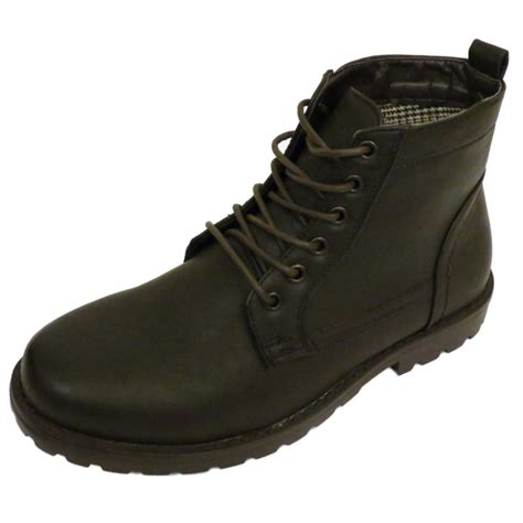 mens designer lace up boots mens brown ex designer lace up combat army ankle