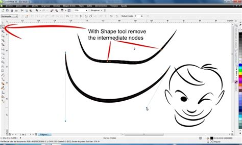 corel draw x5 join lines how to make sharp and pointed line coreldraw x5