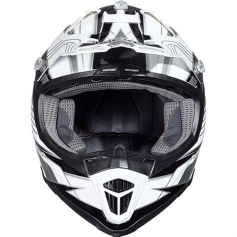 nexo mx  fibre glass cross helmet blackwhite