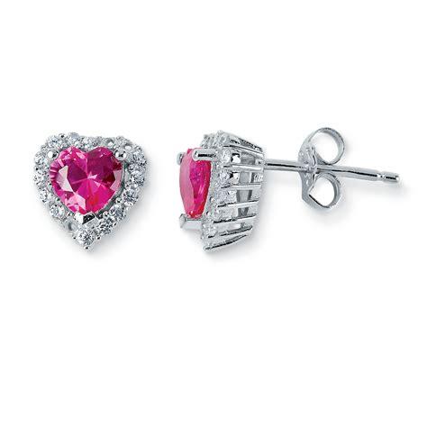 Ruby Zirconia by Ruby Cubic Zirconia Stud Earrings