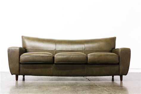 80 Inch Leather Sofa Vintage 80 S Wingback Leather Sofa Vintage Supply Store
