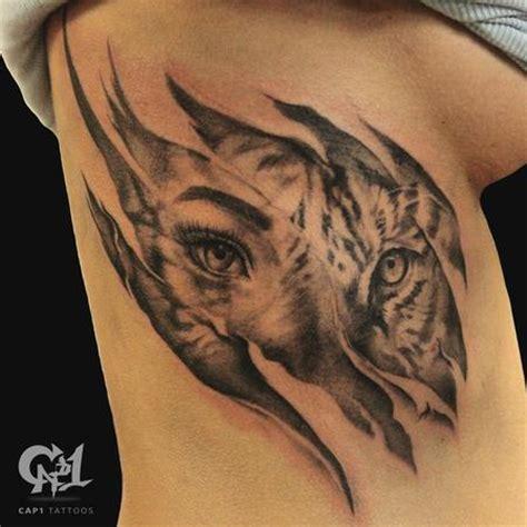 animal tattoo rib cap1 tattoos tattoos capone tiger rib cage skin rips