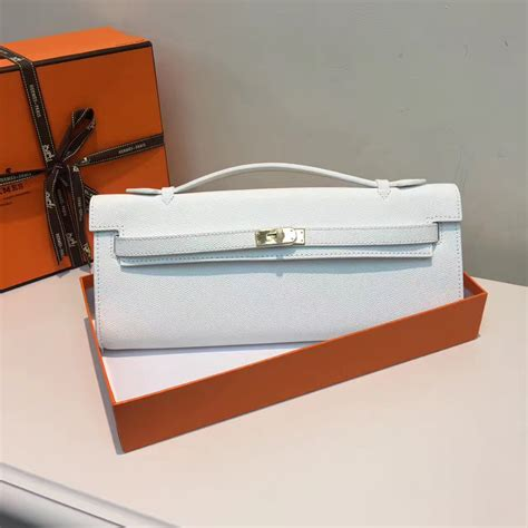 Hermes Cut Clutch Epsom Leather Mirror Quality hermes cut 31cm epsom leather clutch white 189 00
