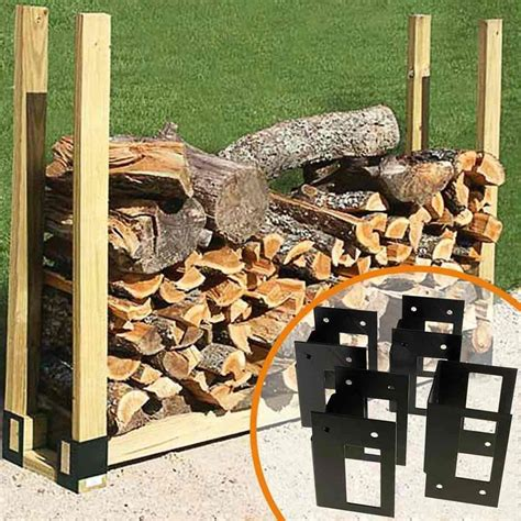 build a firewood rack the easy way stack n store log rack brackets firewood rack brackets northline express
