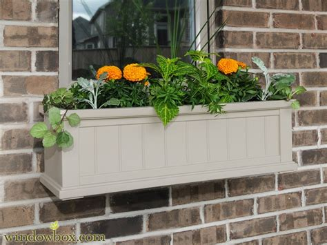 vinyl window boxes planters promenade window box clay vinyl window boxes window