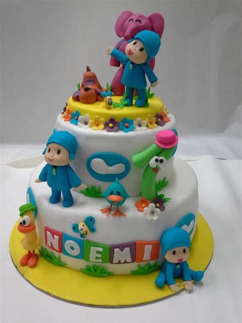 pocoyo birthday cake pocoyo cake cakecentral