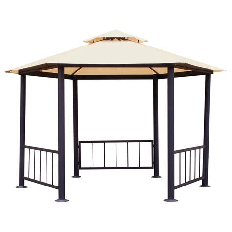 fixed gazebo mimosa 3 x 3m hexagonal gazebo replacement canopy