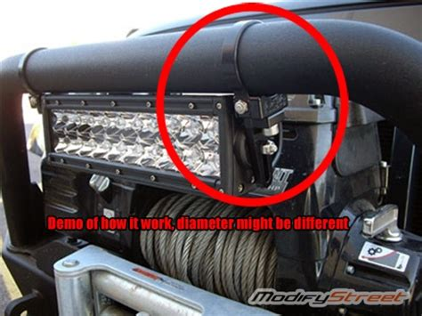 how fast to pull a tube behind a boat 2 x 1 75 quot offroad led light bar tube mounting cl bull