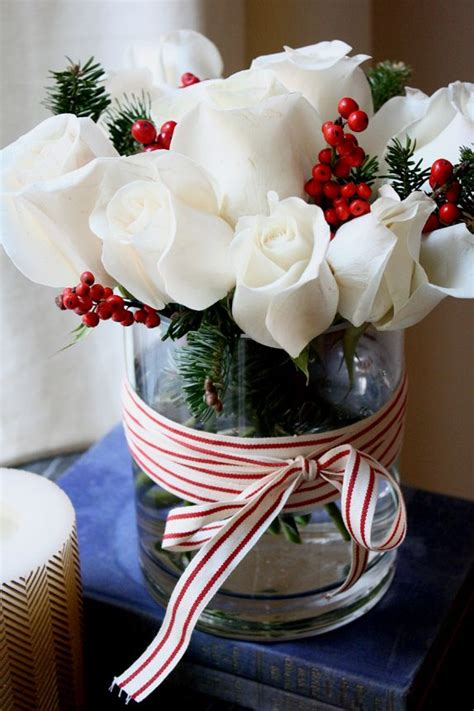 holiday flower centerpiece ideas holidays pinterest