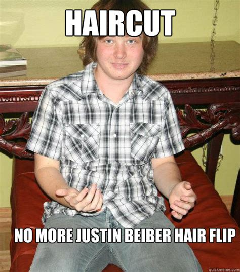 Hair Flip Meme - haircut no more justin beiber hair flip russian roman