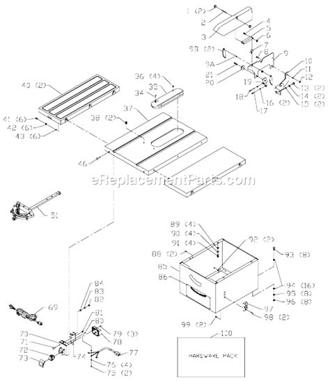 delta bench saw parts delta 36 682 parts list and diagram type 1