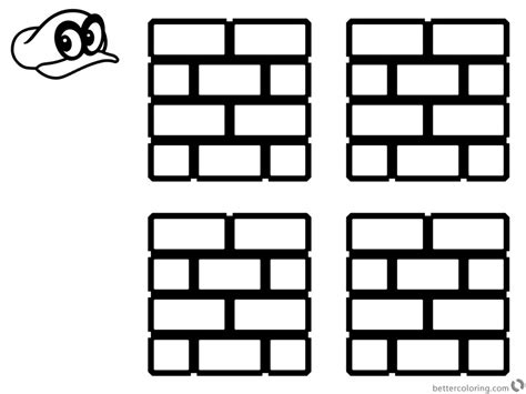 mario question block coloring page super mario odyssey coloring pages brick block free