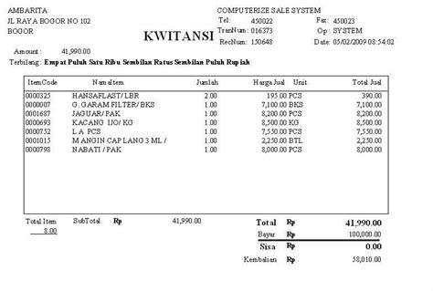 Contoh Faktur Pembelian Jasa by Normalisasi Kwitansi Pembayaran Ahonk Ressya