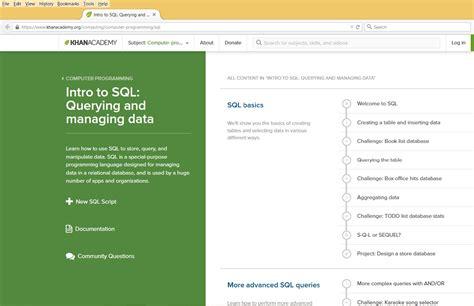 online tutorial for sql 5 websites to learn sql online for free