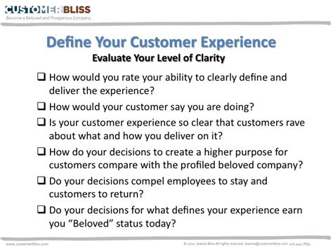 what defines your experience customer bliss