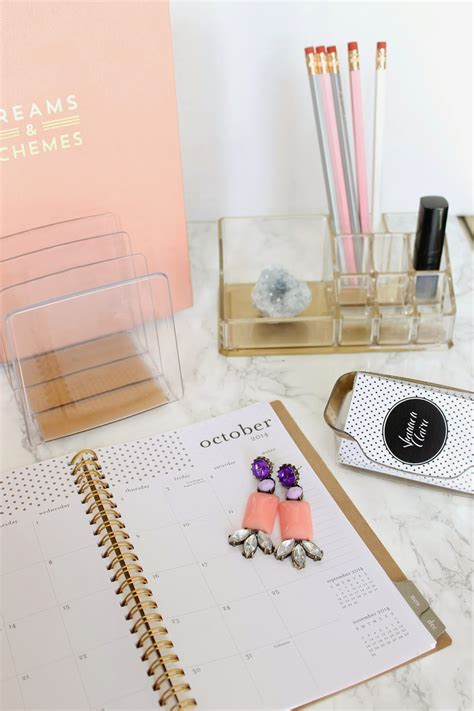 Diy Desk Accessories Shannon Diy Files Gold And Lucite Desk Accessories