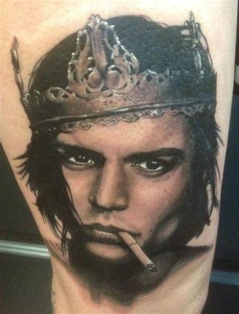 grav3yardgirl johnny depp tattoo johnny depp portrait by hal sawyer tattoonow