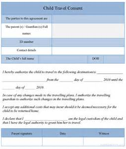 free child travel consent form template child travel consent form template