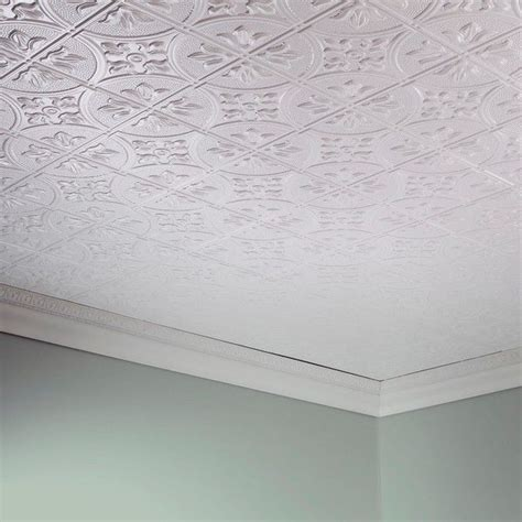 Home Ceiling Panels by Fasade Traditional Style 2 Matte White 2 X 4 Glue Up