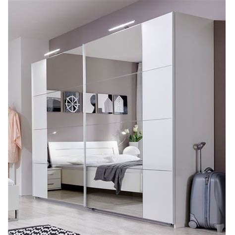 Innovation Wardrobe 3 Doors davos sliding robe wardrobe in alpine white with lights