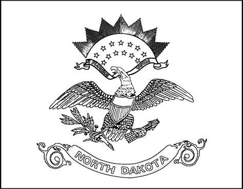 download north dakota state flag line drawings jpg